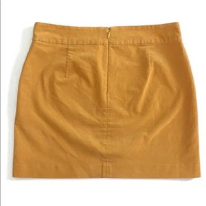Banana Republic Mustard Yellow Corduroy Mini Skirt